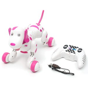 Pink 2.4G RC Smart Dance Walking Fjärrkontroll Robot Hund Elektronisk Pet För Kid Toy