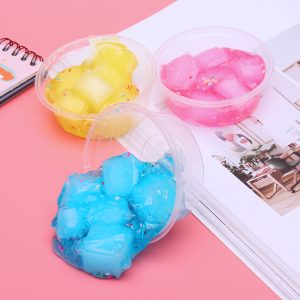 60ml Mixed Cloud Slime Crystal Snowflake Coconut Mud DIY Material Decompression Toy