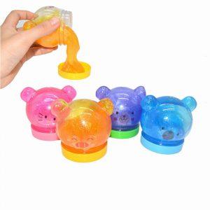 4PCS Söt Djur Slime 6.5cm Slumpmässig DIY Crystal Clay Gummi Mud Plasticine Toy Gift