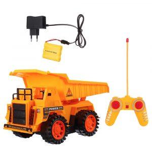 Radiostyrd RC  Lastbil ,4WD,Trådlös,  Blinkande Byggnads Dumper Bulldozer