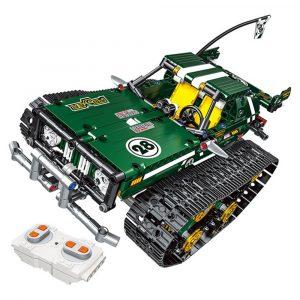 13025/26 2.4G upphängningsfordonsbyggnadsbyggsatser Spårade RC Bil DIY Tegelstenar 626Pcs