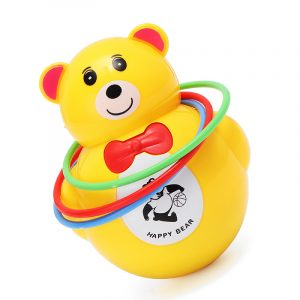 Musikljus Animal Bear Tumbler Musical Toy för Baby Kids Gift Toy