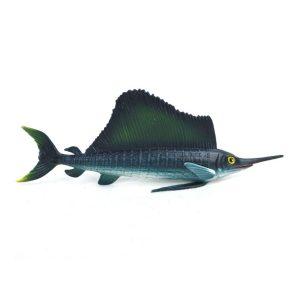 21cm Segelbåt Realistisk havsdjursmodell Solid Plast Figur Diecast Modell Ocean Toy