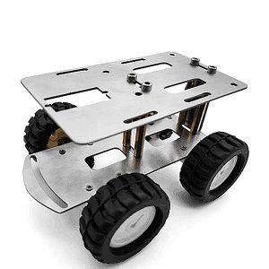 DIY RC Robot Chassitank Bilmonteringsbil med metallbil