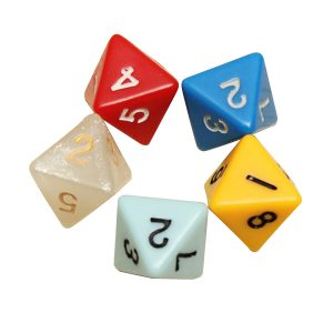5PCS / set Antal Åttsidigt Dice Board Game Dice Counter