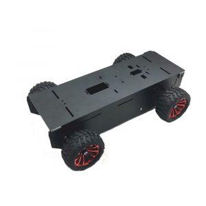 DIY A-11 4WD Aluminium Smart Car Chassis RC Robot Bildelar Med Motor För Arduino Raspberry Pi