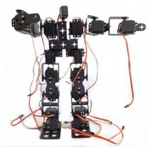 DIY 17DOF RC Dans Robot Pedagogisk Gående Lopp Robot Utrustning
