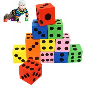 12 st Stora ' Jumbo Färgglada Skum Tärning Barn Baby Utbildnings SPELA Leksak Pusselspel