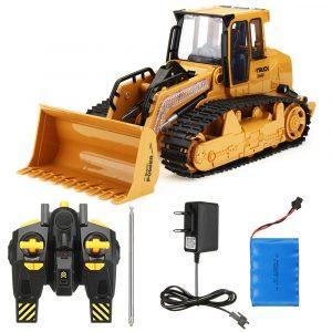 Xieming XM-6822L 1/12 2.4G 5CH Rc Bilbil Bulldozer Caterpillar Grävningsspår Simuleringsmodell Leksaker