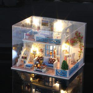 Iiecreate K-019 Helen The Other Shore DIY Dollhouse Med Möbler Lätt Musik Cover Gift House Toy