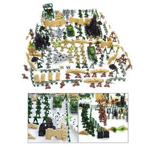 250 st Militär plast leksaksoldater Armé män Action Figur Tillbehör Spel Set