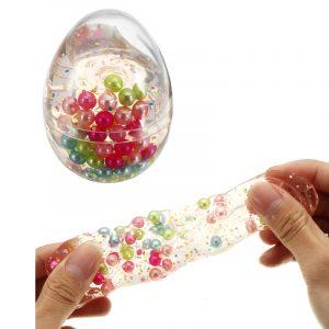 Slem Pärla Boll Simulerat ägg Form Flaska Kristall Lera Samling Påfrestning Reliever Gavà Dekor Leksak