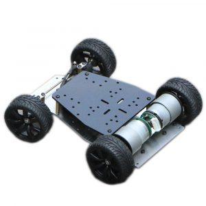 DIY RWD Aluminium Smart RC Robot Bil Chassi Bas Med Servo