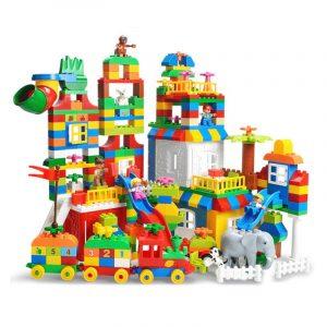 Storlek Byggnadsblock Pedagogiska Leksaker Barn Presenter 225st
