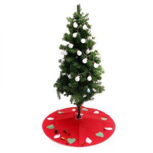 100 cm röd julgran kjol mattor partiet gåva dekor dekor dekorationer runda matta