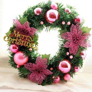 30cm julkrans täta tallnålar god jul bokstäver Rotting dörr krans dekorationer