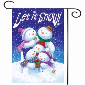 """12.5"""" x 18"""" Christmas Snow Winter Welcome House Garden Flag Yard Banner Decorations"""