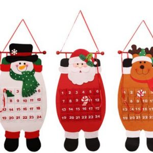 Christmas 2017 Advent Calendar Craft Santa Claus Snowman Hanging Decor Christmas Pendant Ornament