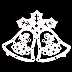2 Pcs Merry Christmas Angle Jingle Bell Wall Sticker For Baby Bedroom Christmas Decor Window Decal
