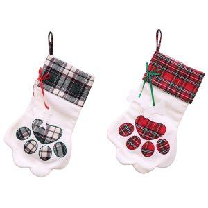 Julstrumpa för hundkattbarns julklappspåsar Trädhängande prydnad