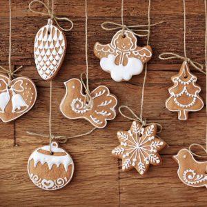 11st Cartoon Animal Snowflake Biscuits Hanging Christmas Tree Ornament Handgjorda dekorationer