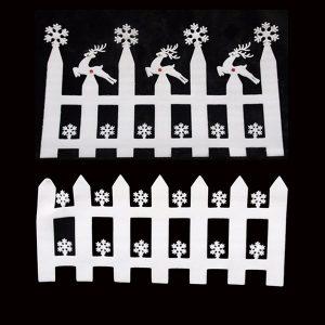 2 delar Vitt skum snöflinga staket väggklistermärke Julprydnad dekoration fönster dekaler
