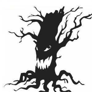 Creative Halloween Ghost Tree PVC Vattentät väggklistermärke Avtagbar Vinyl Konst Väggdekor Dekoration Klistermärken Miljöskydd Halloween Väggklistermärke Fönster Heminredning Dekor Dekor