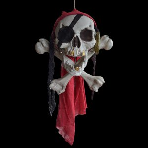 Halloween Buccaneer Secrets Escape Haunted House Decorated Terror Skull Bone One-Eyed Pirates Hanging Skull Head