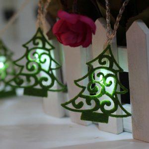 10 Icke-vävda julgranar LED-ljus Julgranbarn DIY-hemfestivalsdekorationer