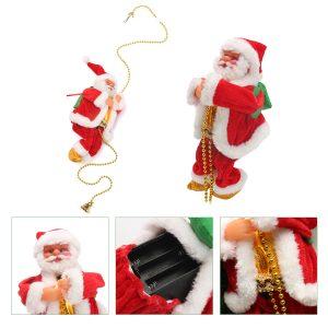 Christmas Senta Claus Climbing Ladder Hanging Decorations Holiday Gift