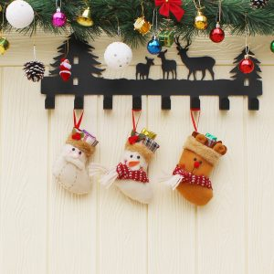 Christmas Candy Bag Strumpa Mini Santa Claus Sock Gift Bag Bagel Julgran Ornament Dekor