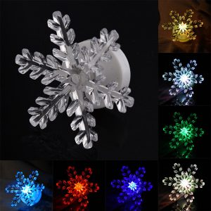 Jul 3D LED akryl nattlampa 7 färger blinkande touch switch jul heminredning