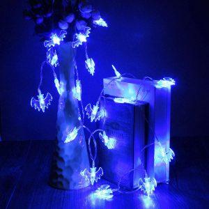 20 blå LED-ljuslampor för halloween-fest