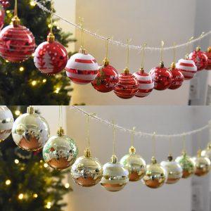 24 STK 6 cm julgran bollstruntsaker Party bröllop hängande ornament jul dekoration leveranser