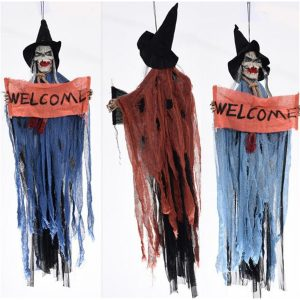 Halloween Party Event Ghost Hanging Prop Decorations Scary Haunted House Bar Del