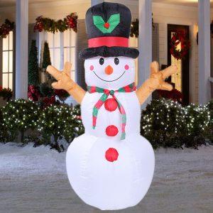 160 cm LED uppblåsbar snögubbe jul inomhus utomhus hem garnparty dekorationer