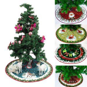 90 cm julgran julgran kjolar prydnad klänning matta gränsen parti dekorationer