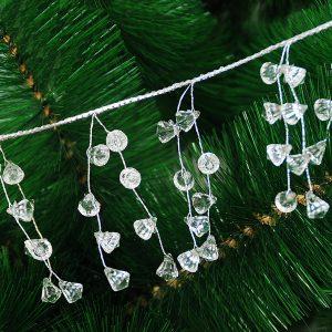 110cm Hängkedja för jul Xmas Tree akryl Garland Christmas Tree Decoration