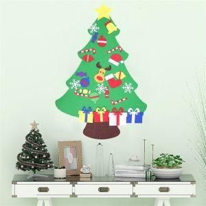 100 cm DIY jul Deluxe Deluxe filtträdvägghängande barn Småbarn för förskolehantverk