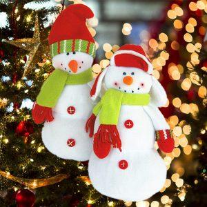 12 Inch Christmas Snowman Decoration Doll Christmas Tree Decor