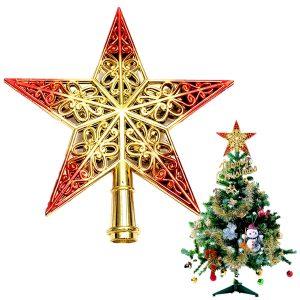 Blankt dekorativt julgranstjärna hängen topp prydnad