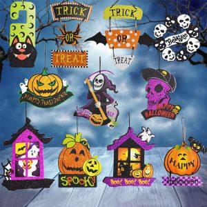Halloween Spoof Hanging Decorations Pumpkin Ghost Skull Witch Door Hanger Halloween Supplies