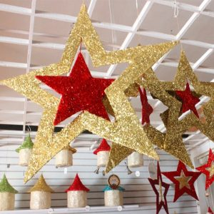Christmas Iron Star String Hanging Christmas Party Tree Decoration Gifts Pendant Drop Ornament