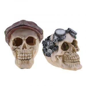 Halloween snygg Skull Decor Horror Novelty Toy Human Prop Harts Skull Head Ornament DIY Party Decorations