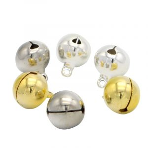 10pcs 14mm Jingle Bells Hanging Christmas Tree Ornaments DIY Crafts Accessories Christmas Decoration