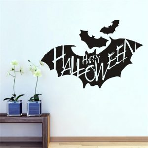 Creative Bat Wall Sticker Halloween Bat Removable Wallpaper Vinyl Art Decal Waterproof Decor Sticker Cartoon Animals Halloween Decoration Vinyl Window Glass Refrigerator Wall Stickers Home Party Decor