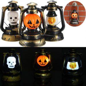 Halloween pumpa skalle häxa lykta lampa med lätt skratt