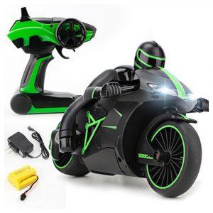 ZhengCheng 333-MT01B 2.4G 20 km / h Rc Bilmotorcykel 30 grader 24.4 * 12.7 * 14cm med ficklampa