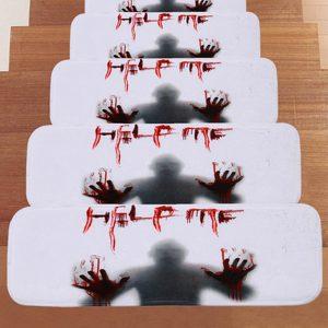 66,5 * 23 cm Halloween design trappad antislip matta kök badrum golvmatta