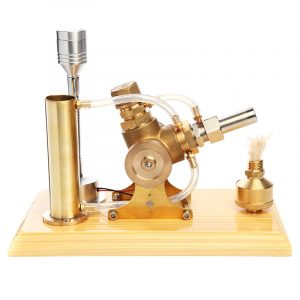Full Brass Shell Air Stirling Engine Model 3000RPM With LED Lamp Gift Collection
